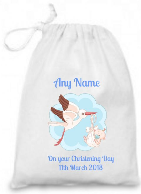 Christening Gift (Blue Stork) Bag